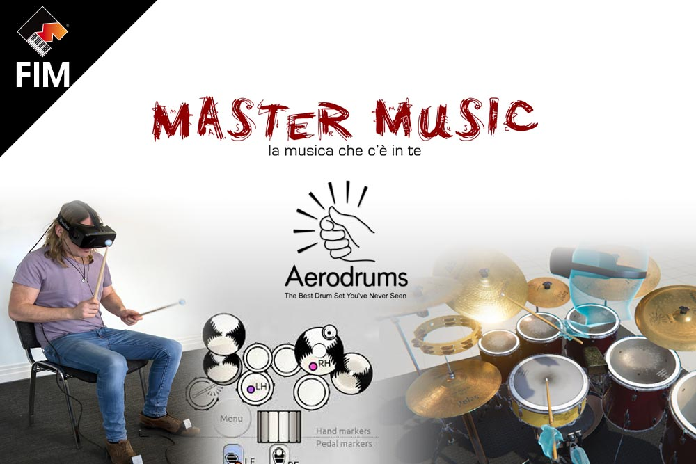Master Music e Aerodrums 3D/VR